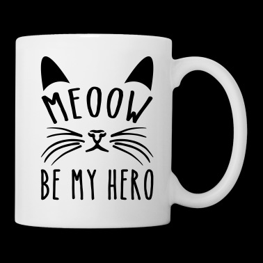 Meoow Be My Hero - Coffee/Tea Mug