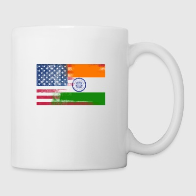 Indian American Half India Half America Flag - Coffee/Tea Mug