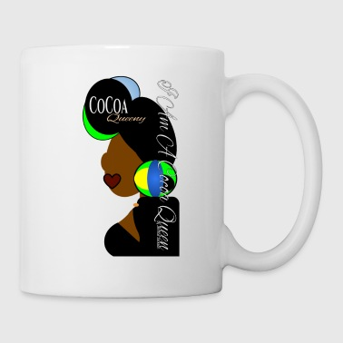 Light blue, Green, Yellow Head tie Cocoa Queen - Coffee/Tea Mug
