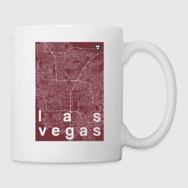 Las Vegas hipster city map red - Coffee/Tea Mug