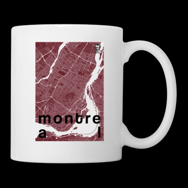 Montreal hipster city map red - Coffee/Tea Mug