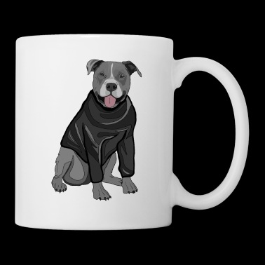 Sweet dog sweater dogs lover gift idea stafford - Coffee/Tea Mug