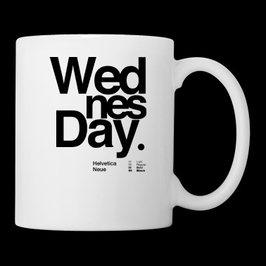 Wednesday typography - Coffee/Tea Mug