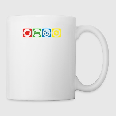 geschenk eat sleep repeat fussball ultras stuermer - Coffee/Tea Mug