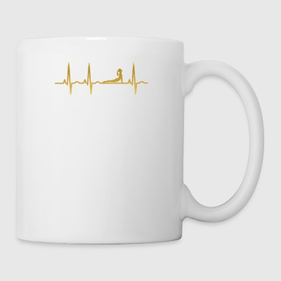 evolution ekg heartbeat ballet yoga 3 - Coffee/Tea Mug
