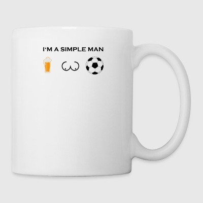 simple man boobs bier beer titten fussball ultras - Coffee/Tea Mug