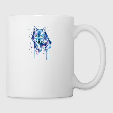GIFT - COLORFUL WOLF - Coffee/Tea Mug