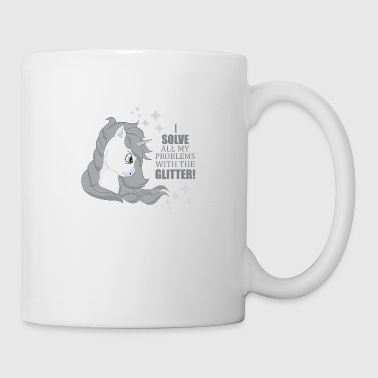Unicorn Glitter I solve Problems Cute Fairy - Coffee/Tea Mug