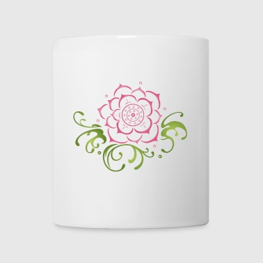 Lotus flower with filigree tribal. Yoga. - Coffee/Tea Mug