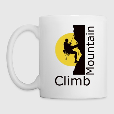 climb mountain - Coffee/Tea Mug