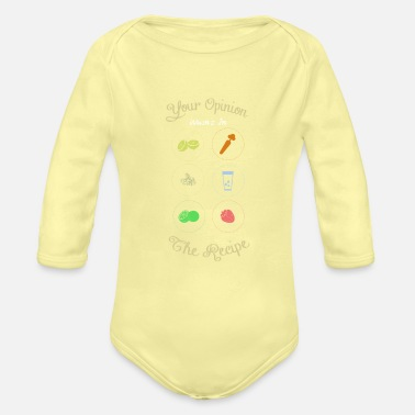 Hungry Koch Recipe Cookbook Funny - Organic Long-Sleeved Baby Bodysuit