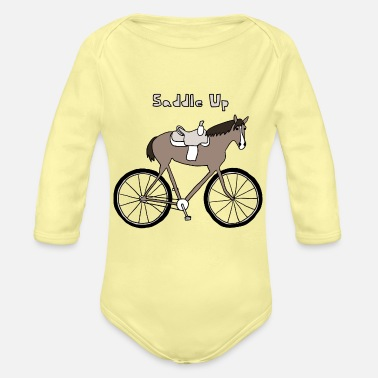Saddle saddle up - Organic Long-Sleeved Baby Bodysuit