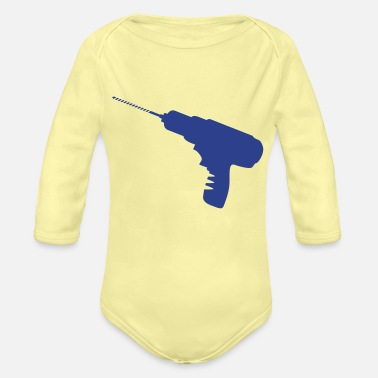 Drill drill - Organic Long-Sleeved Baby Bodysuit