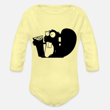 Squirrel squirrel - Organic Long-Sleeved Baby Bodysuit