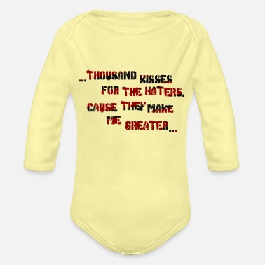 Hater haters - Organic Long-Sleeved Baby Bodysuit