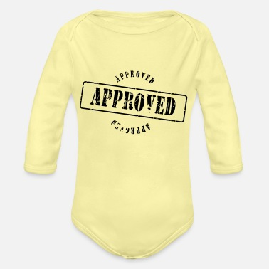 Approved approved - Organic Long-Sleeved Baby Bodysuit