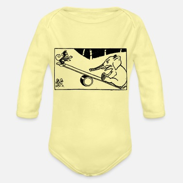 Unfair Seesaw - Organic Long-Sleeved Baby Bodysuit