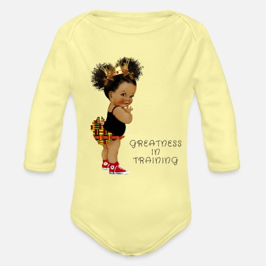 Training Greatness In Training 2 - Organic Long-Sleeved Baby Bodysuit