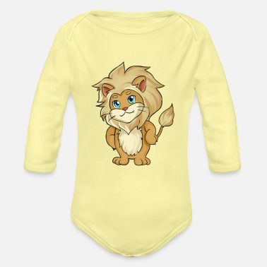 Lion Cute Lion - Organic Long-Sleeved Baby Bodysuit