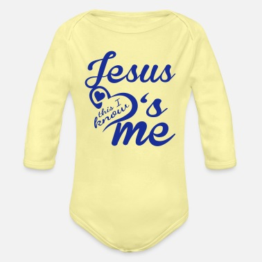 Jesus Jesus Loves Me - Organic Long-Sleeved Baby Bodysuit