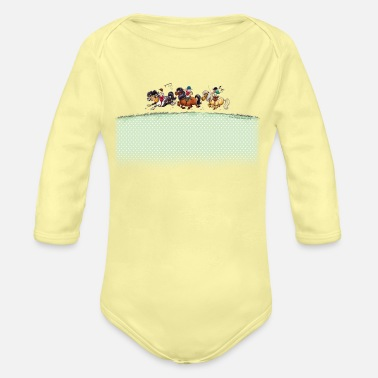 Thelwell Three Jockeys Thelwell - Organic Long-Sleeved Baby Bodysuit