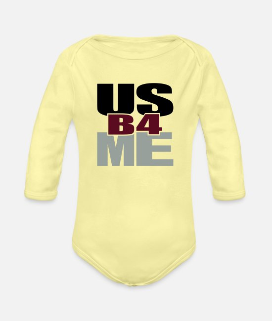 Inspiration Baby One Pieces - Us Before Me - Organic Long-Sleeved Baby Bodysuit washed yellow