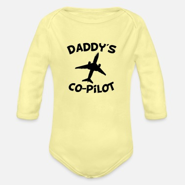Pilot Daddy's Co-Pilot - Organic Long-Sleeved Baby Bodysuit