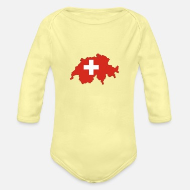 Switzerland switzerland - Organic Long-Sleeved Baby Bodysuit