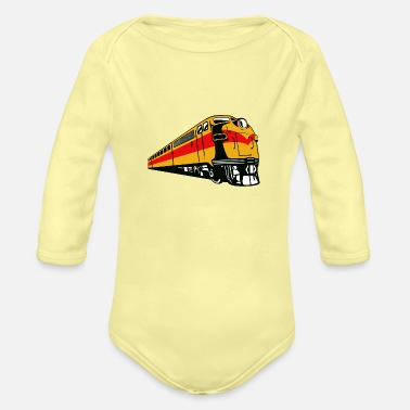 Freight Train Vintage Freight Train - Organic Long-Sleeved Baby Bodysuit