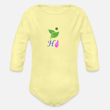 Show More Designs Mixture of Nature and Alphabet - Organic Long-Sleeved Baby Bodysuit