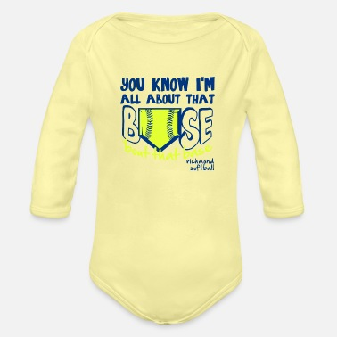 Richmond richmond softball - Organic Long-Sleeved Baby Bodysuit