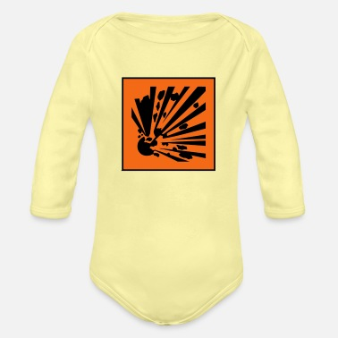 Explosion Explosive - Organic Long-Sleeved Baby Bodysuit