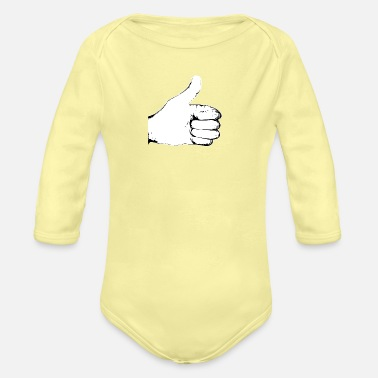 Thumbs Up - Organic Long-Sleeved Baby Bodysuit