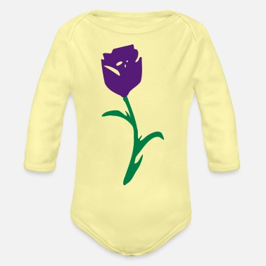 Tulip tulip flower - Organic Long-Sleeved Baby Bodysuit