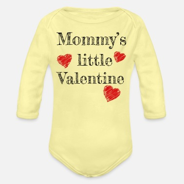 Valentine's Day Valentine's Day Mommy's Little Valentine - Organic Long-Sleeved Baby Bodysuit