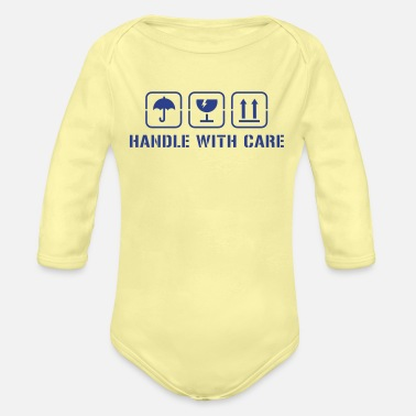 Handle Handle with care - Organic Long-Sleeved Baby Bodysuit