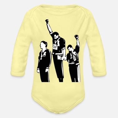 Power 1968 Olympics Black Power Salute - Organic Long-Sleeved Baby Bodysuit