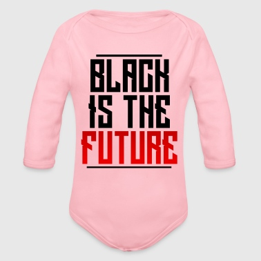 Black Is The Future - Organic Long Sleeve Baby Bodysuit