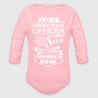 Office Correctional Officer - I'm A Correctional Officer - Organic Long Sleeve Baby Bodysuit