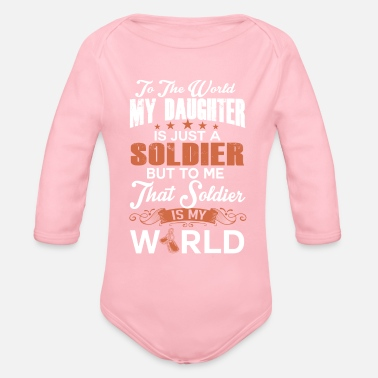 Sailors Daughter To The World My Daughter Is Just A Sailor - Organic Long-Sleeved Baby Bodysuit
