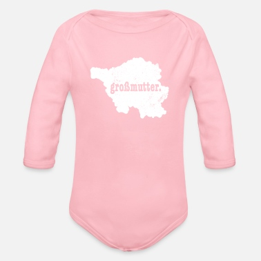 Saarland Saarland Germany Grossmutter Shirt - Organic Long-Sleeved Baby Bodysuit