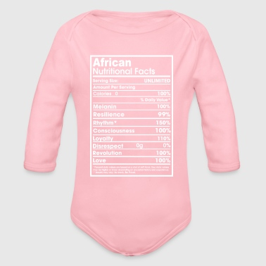 African nutritional facts - Organic Long Sleeve Baby Bodysuit