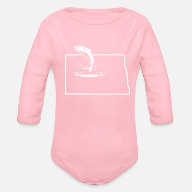 Trout Fish Trout North Dakota Redband Trout Lake Trout - Organic Long Sleeve Baby Bodysuit