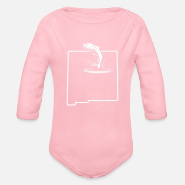 Trout Fish Trout New Mexico Redband Trout Lake Trout - Organic Long Sleeve Baby Bodysuit