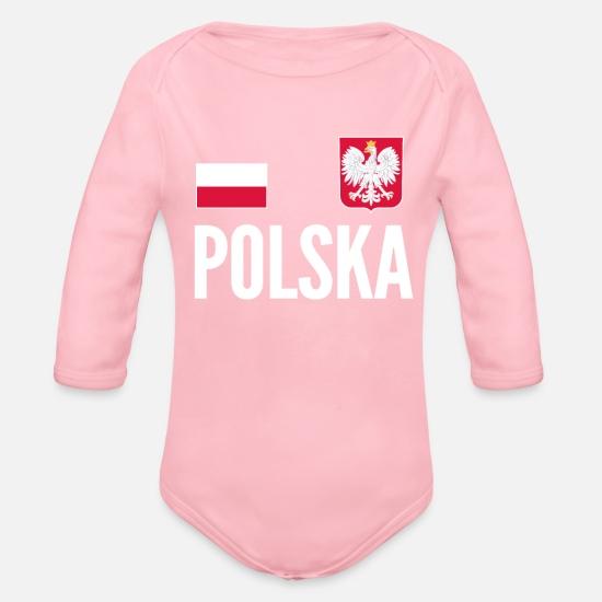 b09ab5ba3 Soccer Baby Clothing - Poland Soccer Jersey World Football Cup Design -  Organic Long-Sleeved. Customize