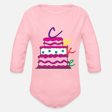 Happy Birthday Happy Birthday Birthday Cake - Organic Long Sleeve Baby Bodysuit