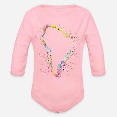 South America South america - Organic Long Sleeve Baby Bodysuit