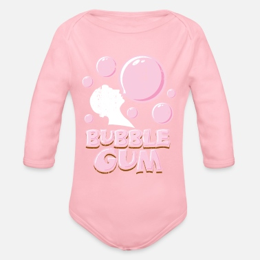 Smoking Bubble Gum Kids Gift Christmas Bubble Gum - Organic Long-Sleeved Baby Bodysuit