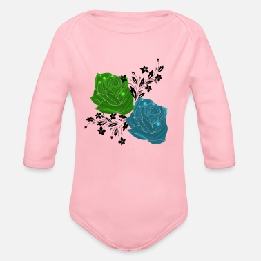Flower Flowers,Flower,Nature,trendy,flowers,flowering, - Organic Long-Sleeved Baby Bodysuit