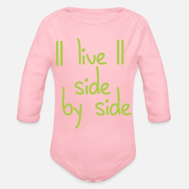 Side live side by side - Organic Long-Sleeved Baby Bodysuit